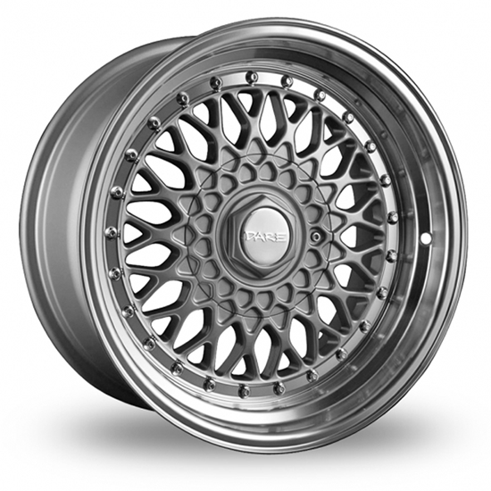"15"" Dare DR-RS Silver Chrome Rivets Alloy Wheels"