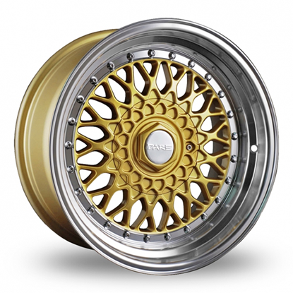 """18"""" Dare DR-RS Gold Polished Lip Alloy Wheels"""