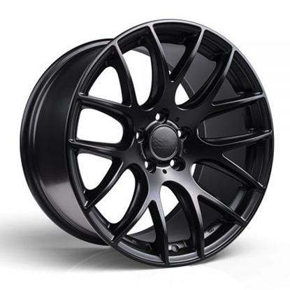"19"" 3SDM 0.01 Matt Black Alloy Wheels"