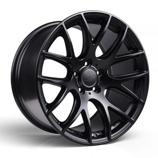 "19"" 3SDM 0.01 Matt Black Alloy Wheels"