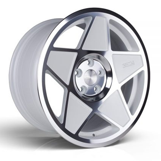 "18"" 3SDM 0.05 White Cut Alloy Wheels"