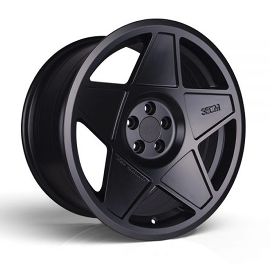 "18"" 3SDM 0.05 Satin Black Alloy Wheels"