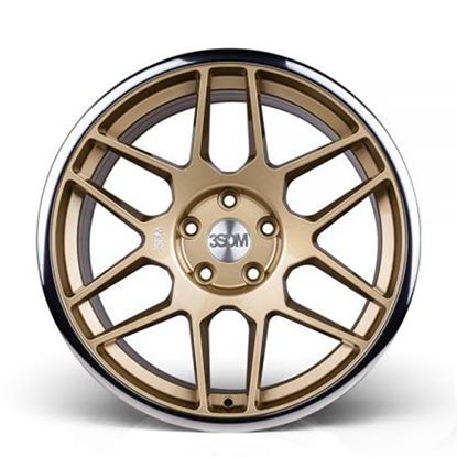 "18"" 3SDM 0.09 Gloss Gold Mirror Lip Alloy Wheels"