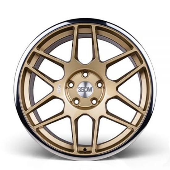 "18"" 3SDM 0.09 Gloss Gold Mirror Lip Alloy Wheels"