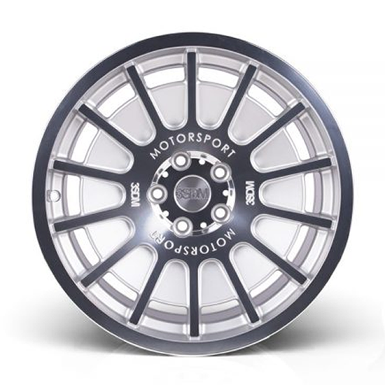 "18"" 3SDM 0.66 Silver Mirror Polished Face Alloy Wheels"