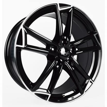 "19"" Targa TG3 Gloss Black Polished Edge Alloy Wheels"