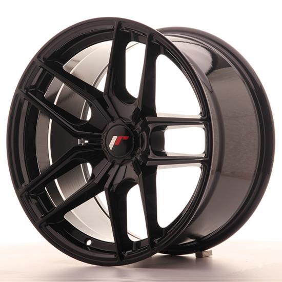 "18"" Japan Racing JR25 Gloss Black Alloy Wheels"