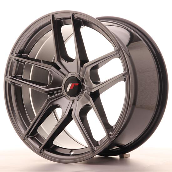 "18"" Japan Racing JR25 Hiper Black Alloy Wheels"