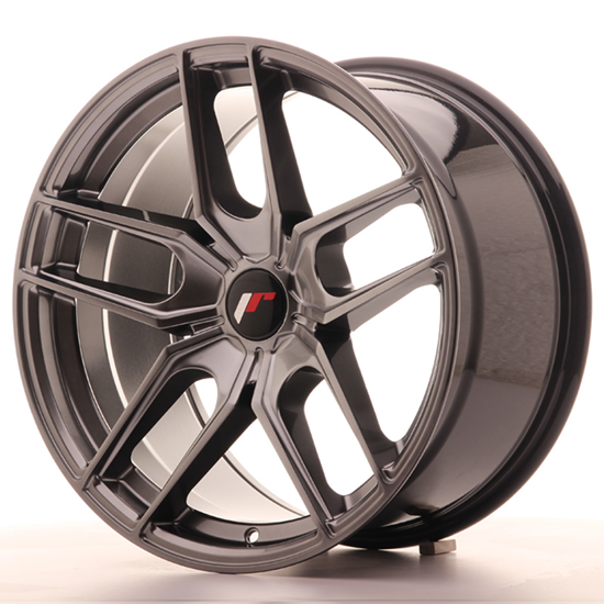 "20"" Japan Racing JR25 Hiper Black Alloy Wheels"