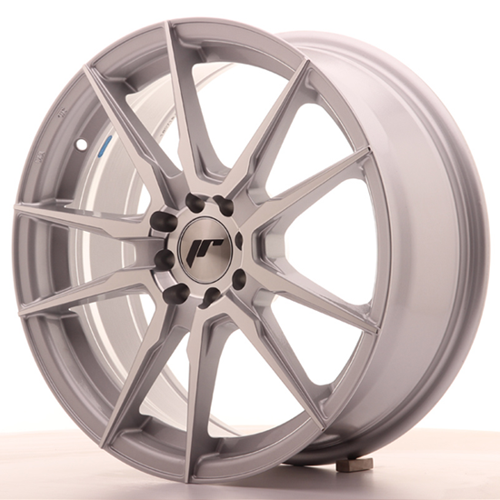 "18"" Japan Racing JR21 Silver Machined Alloy Wheels"