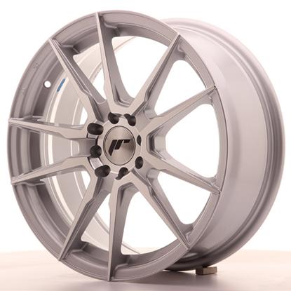 "22"" Japan Racing JR21 Silver Machine Alloy Wheels"