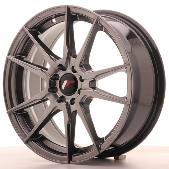 "22"" Japan Racing JR21 Hiper Black Alloy Wheels"