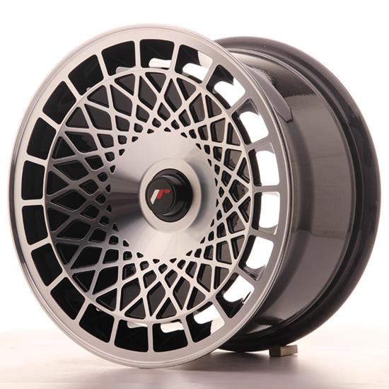 "17"" Japan Racing JR14 Black Machined Alloy Wheels"