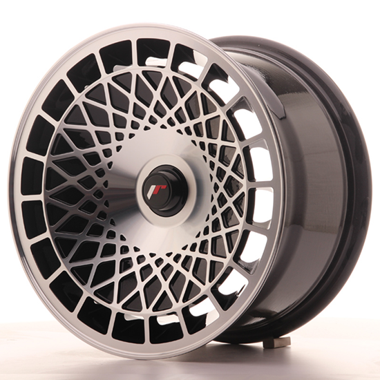 "18"" Japan Racing JR14 Black Machined Alloy Wheels"