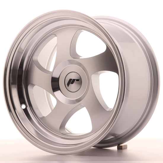 "15"" Japan Racing JR15 Machined Silver Alloy Wheels"