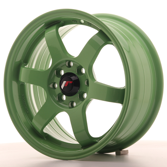 "15"" Japan Racing JR3 Green Alloy Wheels"