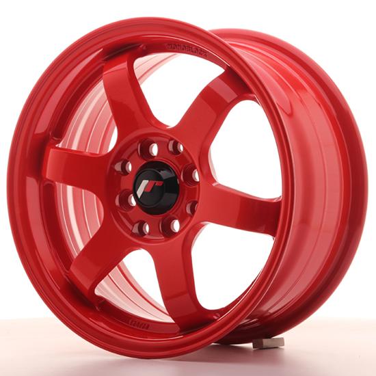 """16"""" Japan Racing JR3 Red Alloy Wheels"""