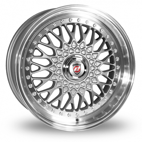 "17"" Calibre Vintage Silver Polished Lip Alloy Wheels"