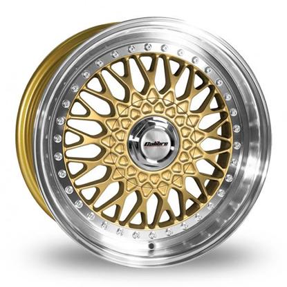 "18"" Calibre Vintage Gold Polished Lip Alloy Wheels"