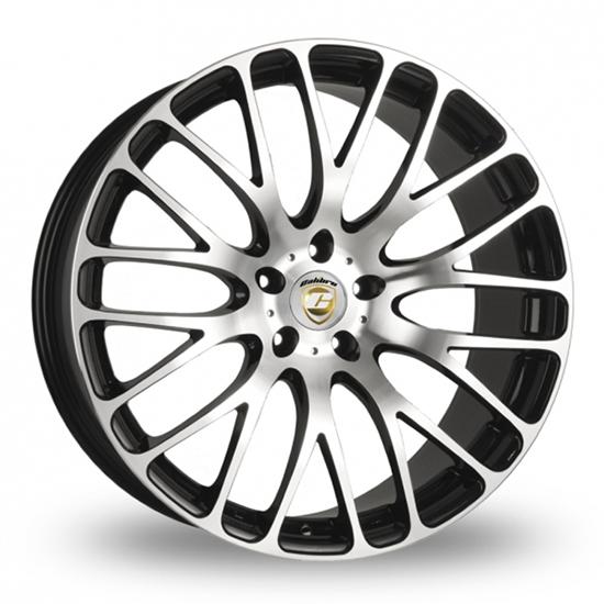 """22"""" Calibre Altus Black Polished Alloy Wheels"""