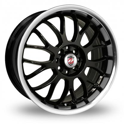 "18"" Calibre Askari Black Polished Alloy Wheels"