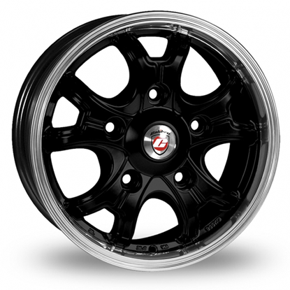 "16"" Calibre Dominator Black Polished Alloy Wheels"