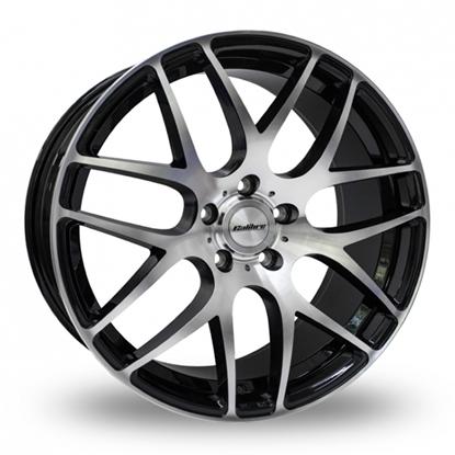 "18"" Calibre Exile-R Black Polished Alloy Wheels"