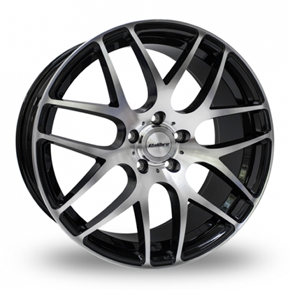 "20"" Calibre Exile-R Black Polished Alloy Wheels"
