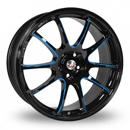"18"" Calibre Friction Black Blue Alloy Wheels"