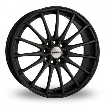 """18"""" Calibre Rapide Matt Black Alloy Wheels"""