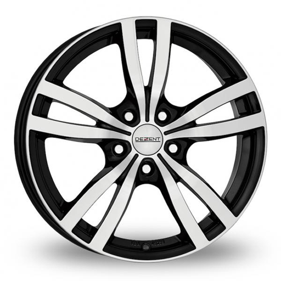 "15"" Dezent TC Black Polished Alloy Wheels"