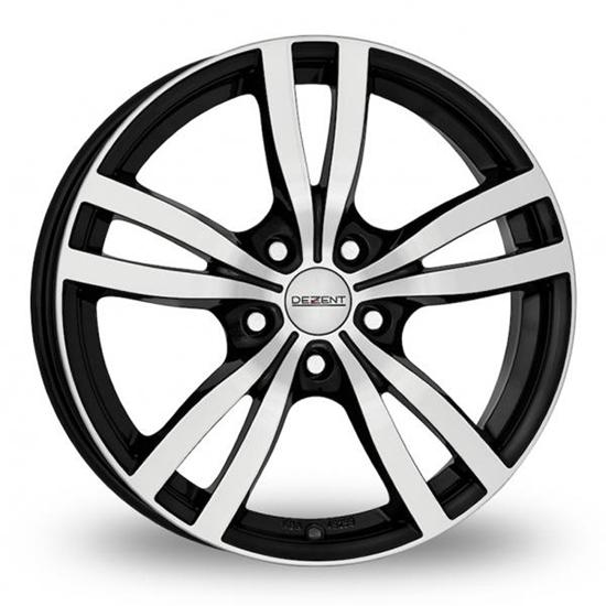 "17"" Dezent TC Black Polished Alloy Wheels"