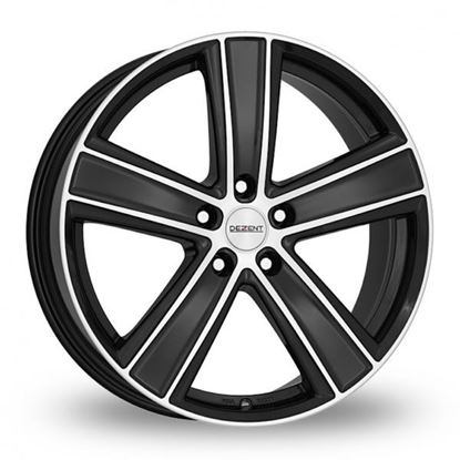 "16"" Dezent TH Dark Matt Black Polished Face Alloy Wheels"
