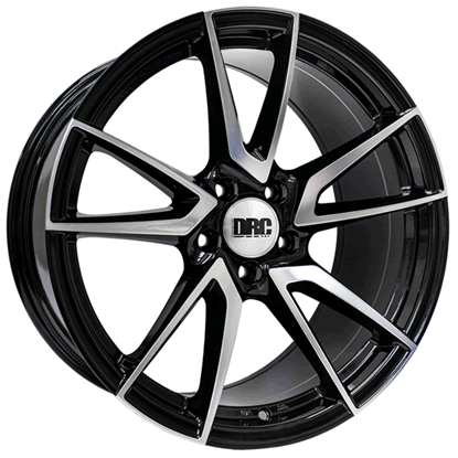 "19"" DRC DLA Black Polished Face Alloy Wheels"