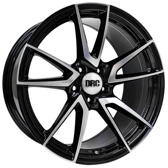 "19"" DRC DLA Black Polished Face Alloy Wheels"