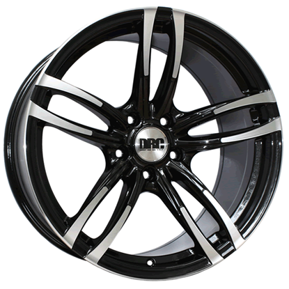 "19"" DRC DMF Black Polished Face Alloy Wheels"