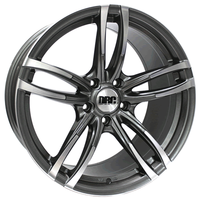 "19"" DRC DMF Gun Metal Polished Face Alloy Wheels"