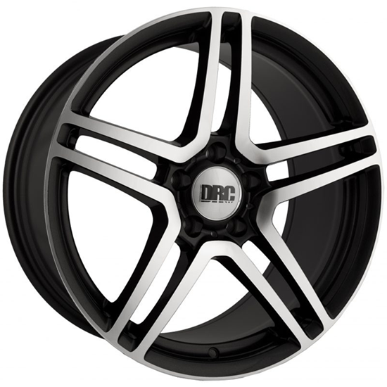 "18"" DRC DMG Black Polished Face Alloy Wheels"