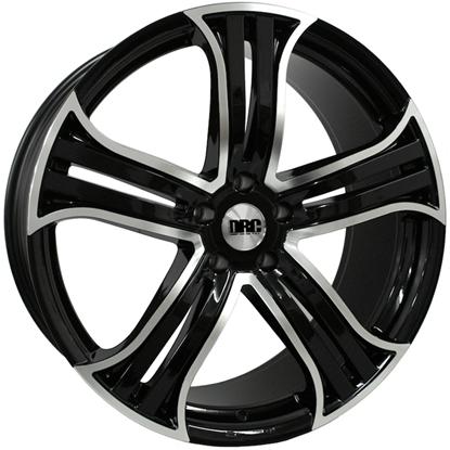 "22"" DRC DRR Black Polished Face Alloy Wheels"