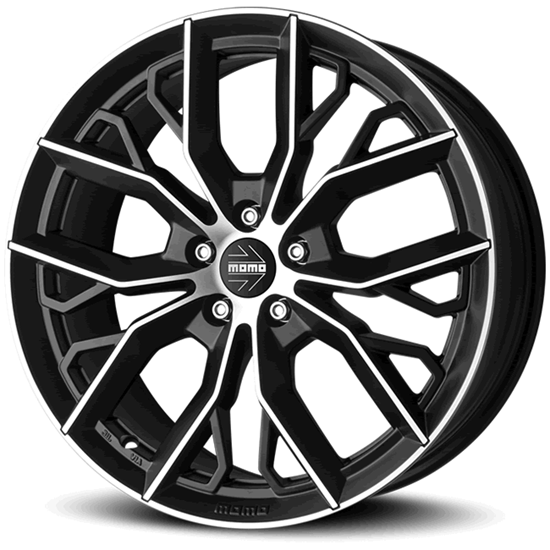 """16"""" Momo Massimo Black Polished Alloy Wheels"""