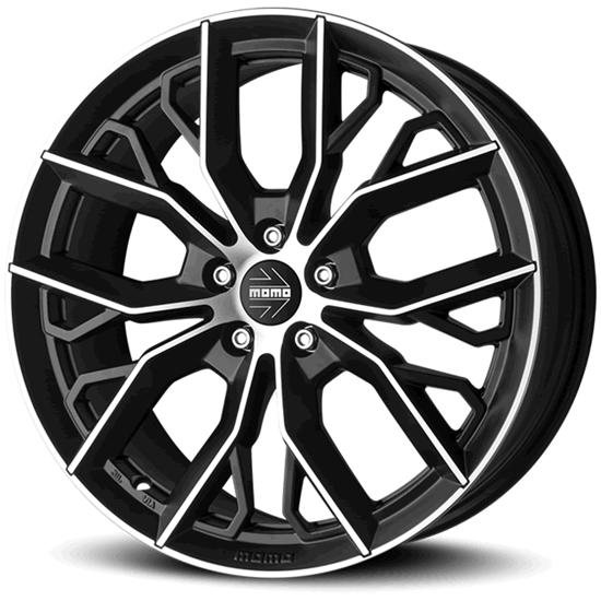 """18"""" Momo Massimo Black Polished Alloy Wheels"""