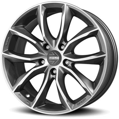 "16"" Momo Screamjet EVO Matte Anthracite Diamond Cut Alloy Wheels"