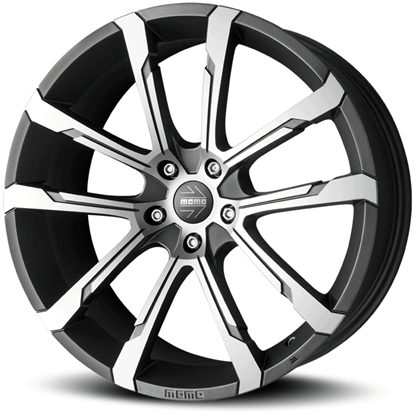 "17"" Momo Quantum EVO Matte Anthracite Diamond Cut Alloy Wheels"