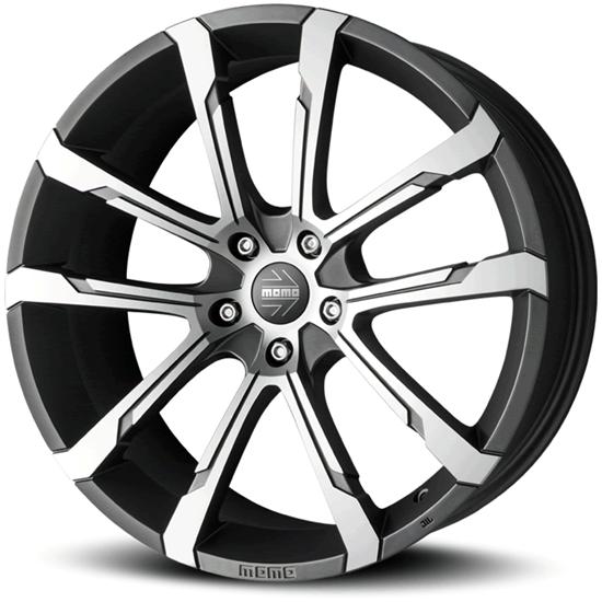 "19"" Momo Quantum EVO Matte Anthracite Diamond Cut Alloy Wheels"