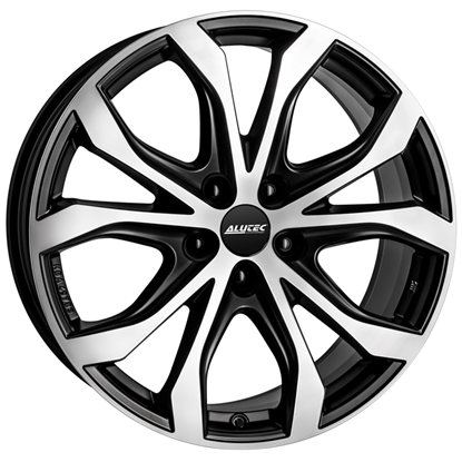 "18"" Alutec W10X Racing Black Polished Alloy Wheels"