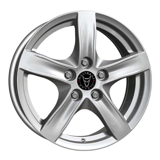 "15"" Wolfrace Arktis Polar Silver Alloy Wheels"