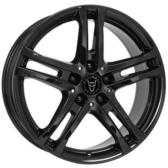 "17"" Wolfrace Bavaro Gloss Black Alloy Wheels"