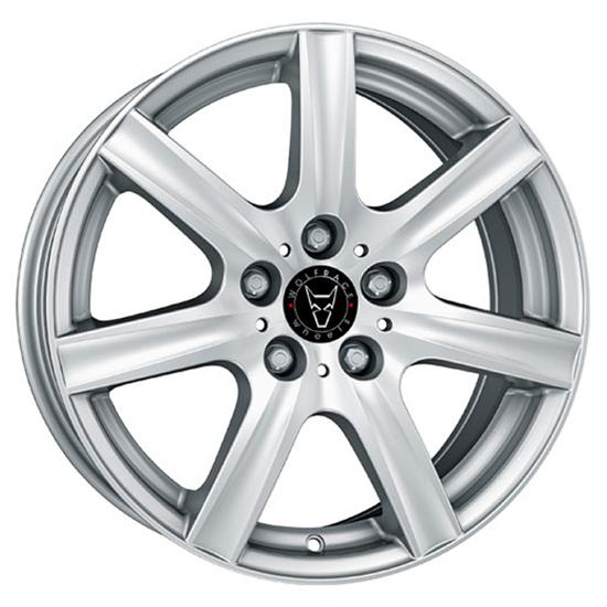 """14"""" Wolfrace Davos Polar Silver Alloy Wheels"""