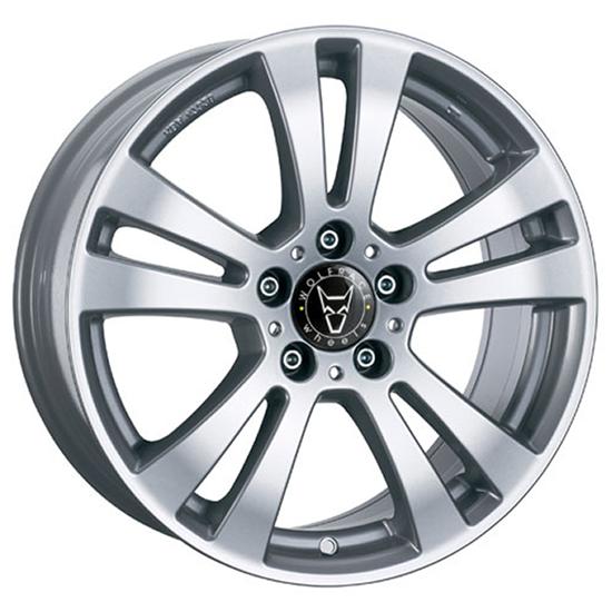 "17"" Wolfrace DH Polar Silver Alloy Wheels"