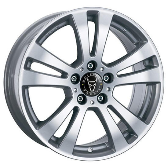 "19"" Wolfrace DH Polar Silver Alloy Wheels"